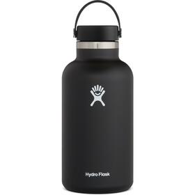 Hydro Flask Wide Mouth Bidón con Tapa Flex 1900ml, negro